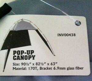 Brand-New-Outdoor-Adventure-90-1-2-034-X-82-1-2-034-X-63-034-Pop-Up-Canopy
