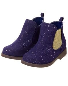 7f97f3f4db2d Details about NWT Gymboree Ready Jet Go Girls Purple Boots Sparkle Ankle  Shoes Many Sizes