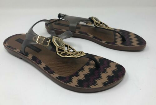 Brown w// Stripes F29 New Women/'s Tropical Escape 17427 Jetty Slingback Sandal