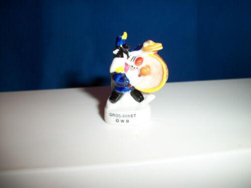 SYLVESTER CAT DRUMMER Drums LOONEY TUNES Musician BAND Porcelain Figurine FEVES