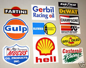 LE-MANS-24-HOURS-2018-Motor-racing-fun-spoof-logo-sponsorship-stickers-decals