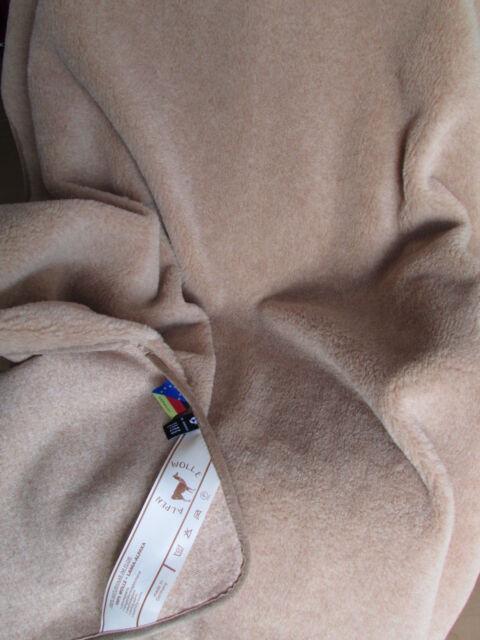 Wolldecke Einseitig Lama Alpaka Alpaca Wolldecke Einfach  Made in Germany