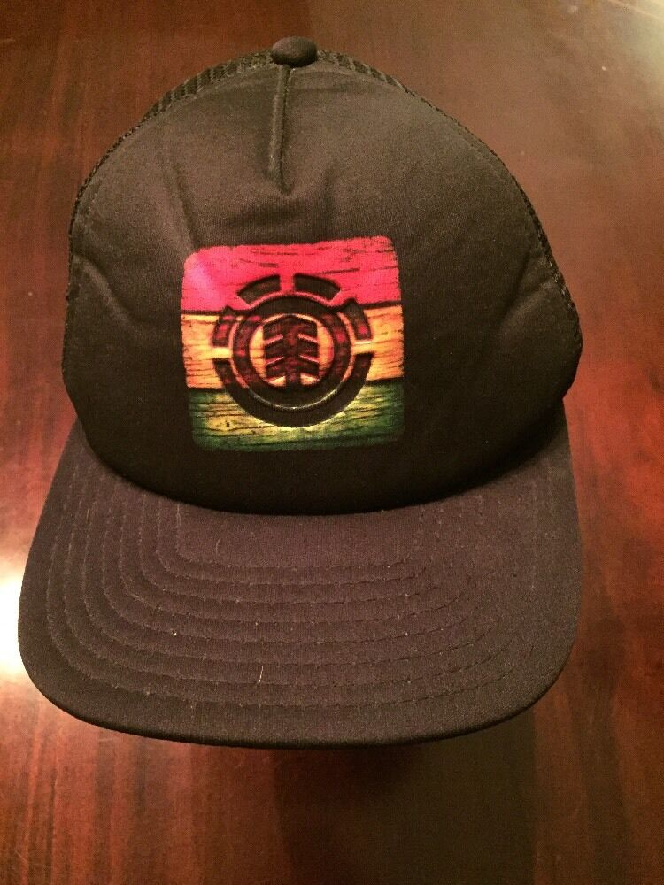 ELEMENT SKATEBOARDS Black Mesh SnapBack TL7 Baseball Hat/Cap TL7 SnapBack a33639