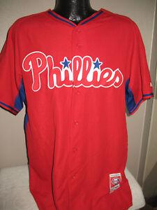 premium selection c304c 2f364 MLB Philadelphia Phillies Red Batting Practice Baseball ...