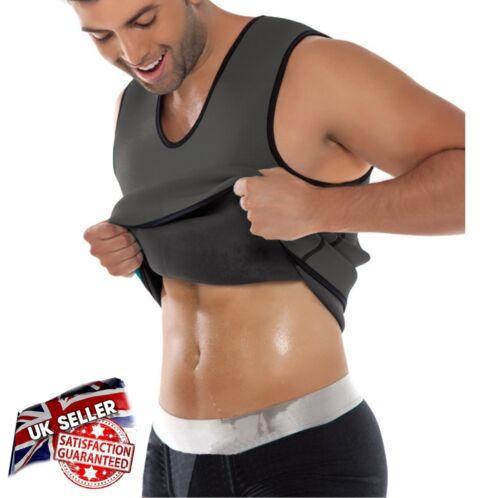UK SELLER MENS BODY SHAPER BELLY BUSTER SAUNA SWEAT VEST TANK FOR WEIGHT LOSS UK