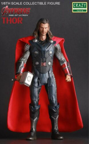 Crazy Toys Marvel Avengers Age of Ultron Thor 1//6th Scale Figure New In Box