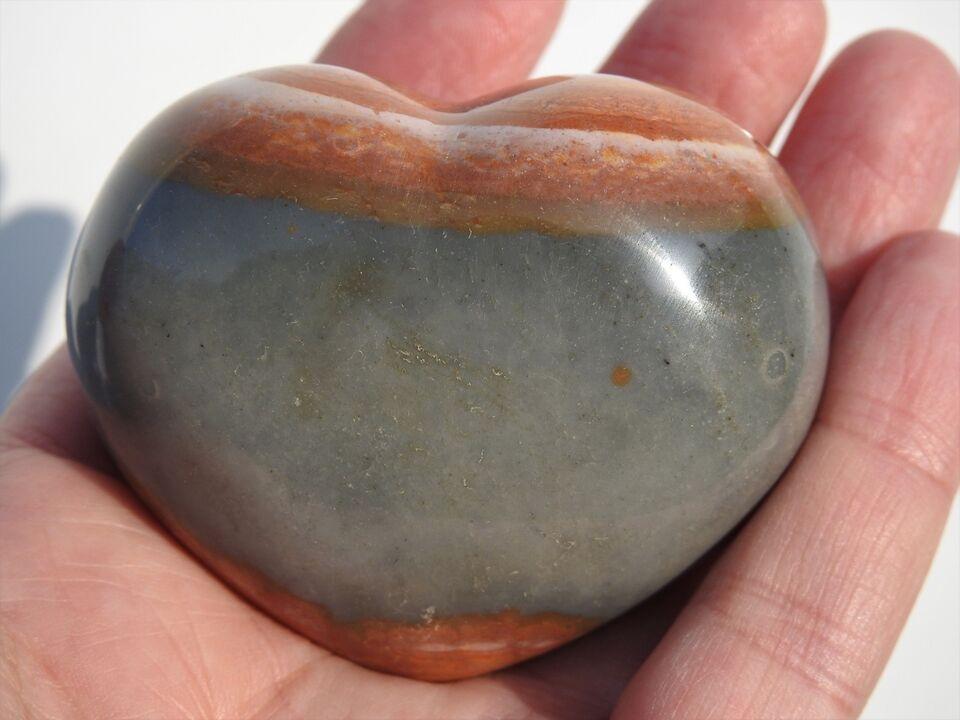 Smykker og sten, Polychrome Jaspis hjerte 4