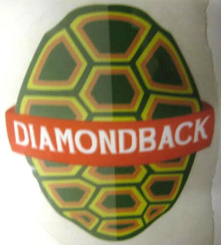 DIAMONDBACK on red background Beer STICKER Baltimore Label MARYLAND Turtle
