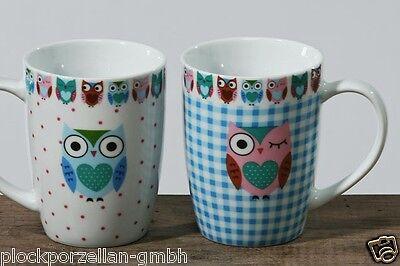 Becher Tee BOLTZE  Henkel Becher 390ml Becher EULE 2er Set  Kaffee