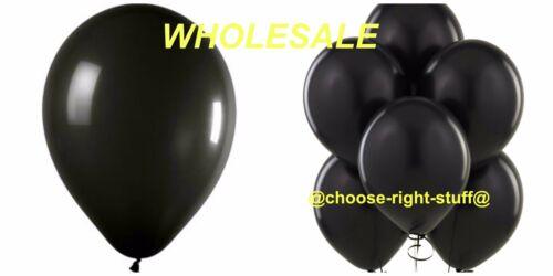 30-100 BLACK ROUND BALLOONS  helium Party Birthday Wedding Balloons baloons
