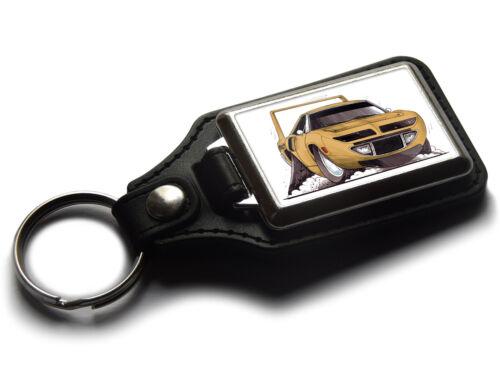 Koolart Cartoon Car Plymouth Superbird Classic Leather and Chrome Keyring