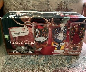 12-Days-of-Christmas-American-Glass-drinking-holiday-12oz-w-box-holiday-Indiana