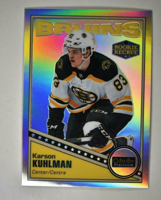 2019-20 OPC Platinum Retro Rainbow #R-69 Karson Kuhlman RC - Boston Bruins