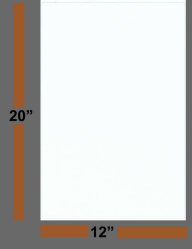 """White Solid 12/""""x20/"""" 10 Pack EVA Foam Sheets Arts and Crafts 2MM Sewing DIY"""
