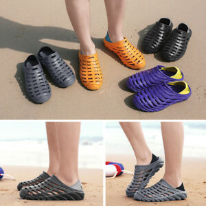 d43514a16998 EVA Mens Clog Summer Beach Slippers Shoes Hollow Out Sandals Hole ...