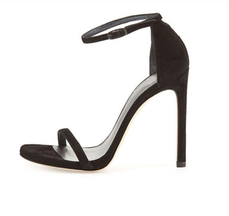 Occident Women Peep Toe Buckle Slim High Heel Slides Slingbacks Sandals shoes