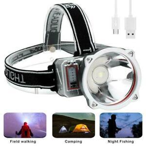LED-USB-Rechargeable-Headlamp-Super-Bright-Flashlight-Headlight-Spotlight-L6A1