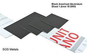 Black Anodised Aluminium Sheet 1 2 Mm Guillotine Cut Sheet Metal Arts Crafts Ebay