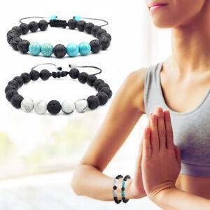 P-2-Stuecke-Lava-Rock-Aromatherapie-Armbaender-Naturstein-Perlen-Armband-Armreif
