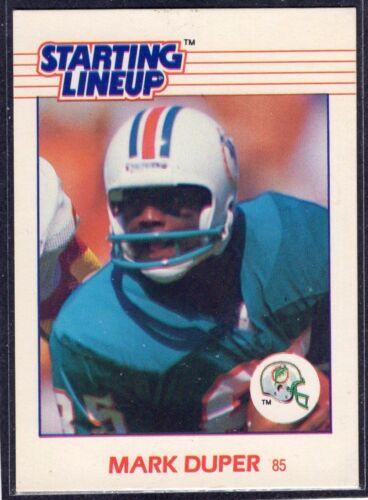 Kenner Starting Lineup Card 1988  MARK DUPER SLU Miami Dolphins