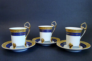 Tiger Yedi Inc Fine Porcelain Japan Style 3 Coffee Cups & Saucers ...