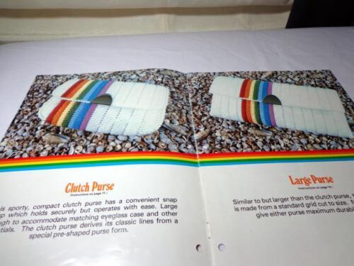 VTG RAINBOWS  UNICORN ON PLASTIC GRIDS CANVAS PURSE TISSUE BOX COVER EYEGASS