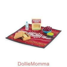 New AMERICAN GIRL AGOTY 2013 Saige Picnic Set~Play Food Basket Blanket~SALE