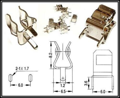 Portafusible fuseholder Fuse clip Open Print 5x20 10 trozo