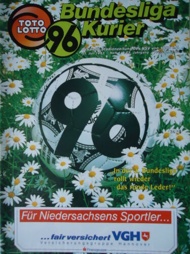 Programm 1993//94 Hannover 96 Te Be Berlin