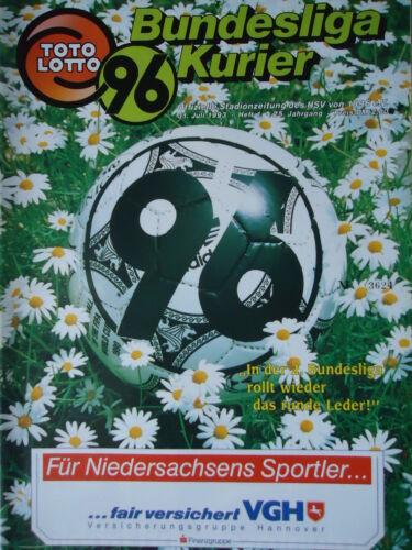 Te Be Berlin Programm 1993//94 Hannover 96