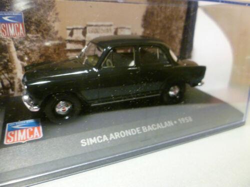SIMCA ARONDE BACALAN NOIR de 1958  ~  NEUF