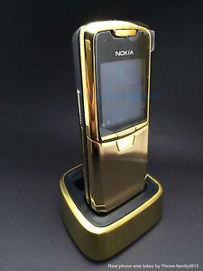 Nokia-8800-Gold-Unlocked-Classical-GSM-Mobile-Cellular-Phone-Bundle-charger-base