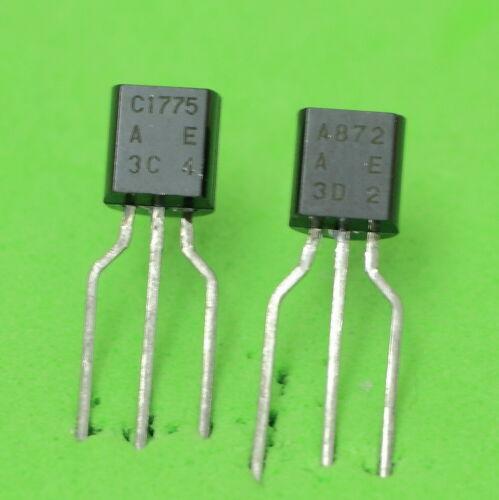 2SC1775A  Matched Low Noise Audio Transistors 1 pair Hitachi 2SA872A