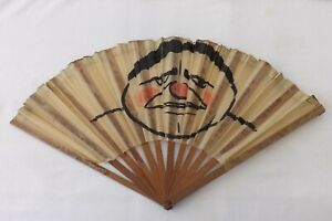 VINTAGE-CHINESE-HAND-HELD-FAN-HAND-PAINTED-WOOD-PAPER-CONSTRUCTION-FS70