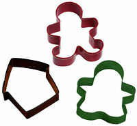 Gingerbread Christmas 3 Pc Metal Cookie Cutter Set From Wilton 1102