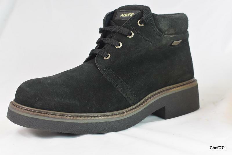 Vintage 97 AD 81 suela de crepé Negro Gamuza ONE botas al Tobillo DEADSTOCK US 12