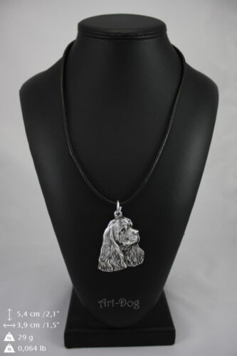 high qauality Art Dog American Cocer Spaniel silver covered necklace