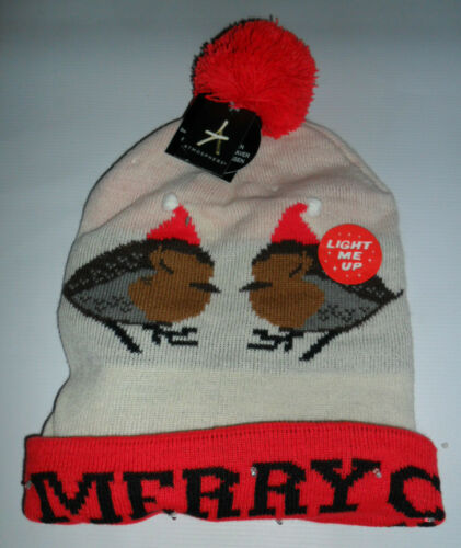 PRIMARK CHRISTMAS WINTER HAT LADIES MEN/'S BOBBLE HAT POM POM BEANIE ONE SIZE NEW