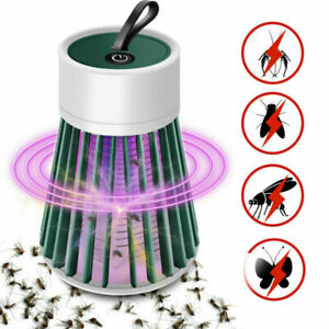 Usb Rechargeable Mosquito Killer LED Light Lamp Fly Bug Insect Zapper Trap Pest