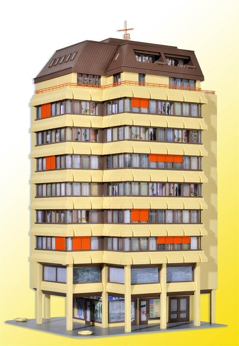 Kibri h0 38218-alta casa con con con ladenpassage y penthauswohnung kit Artículo nuevo  solo para ti