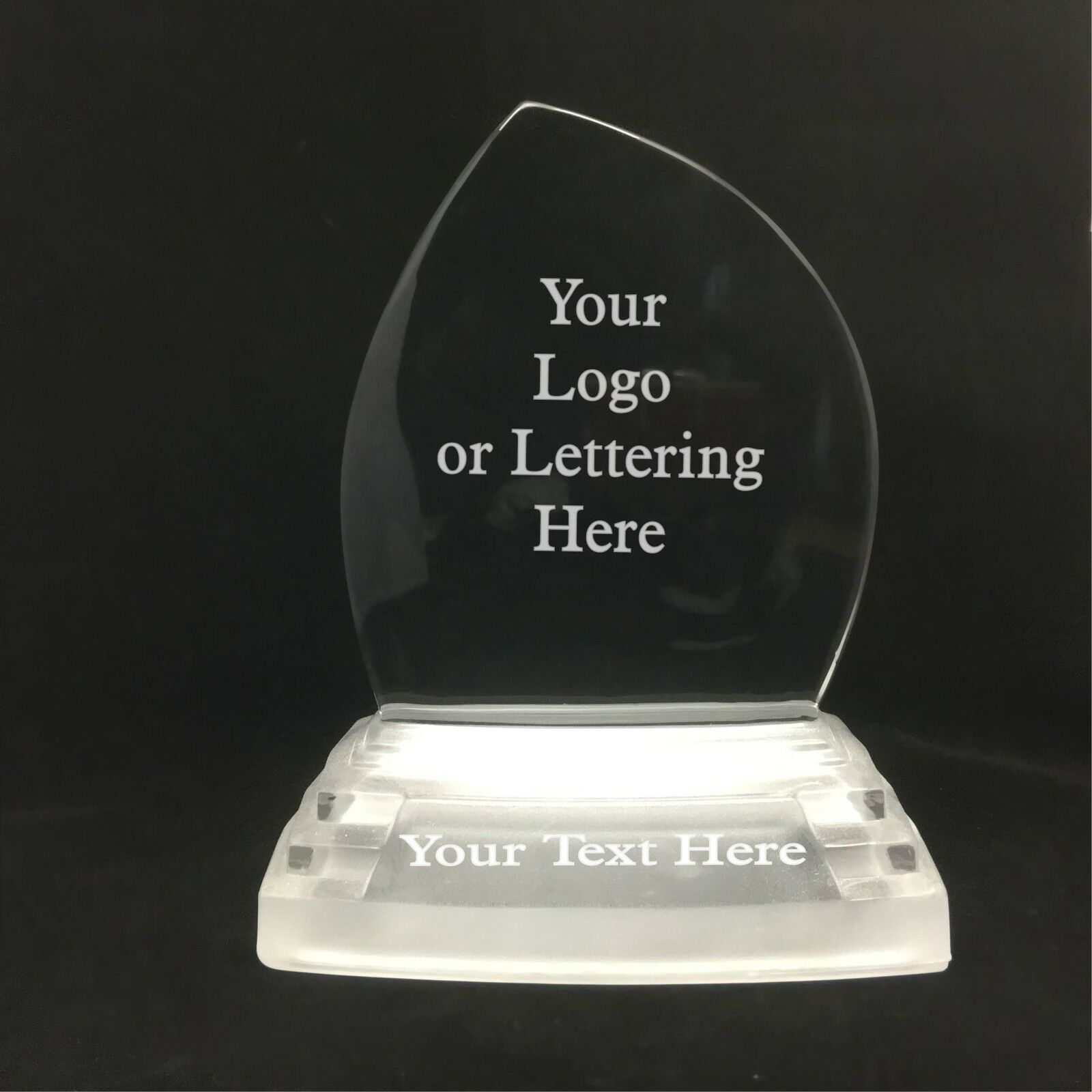 Personalised Engraved Glass Iceberg Style Award -  Corporate Staff Recognition