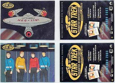 STAR TREK ANIMATED ADVENTURES PROMO CARD SET S1 & S2