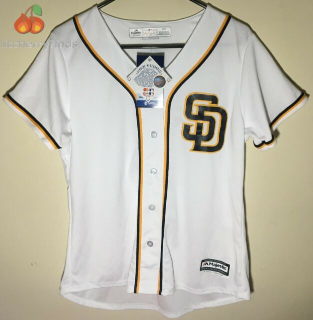 94e22e35714 ... coupon code for majestic womens san diego padres cool base jersey size  small sd white navy