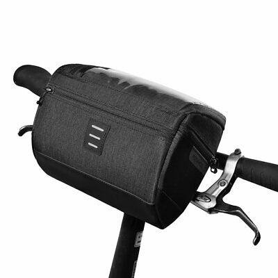 Mountain Bike Touch Screen Front Handlebar Bag Phone Holder Pouch Pannier NEW
