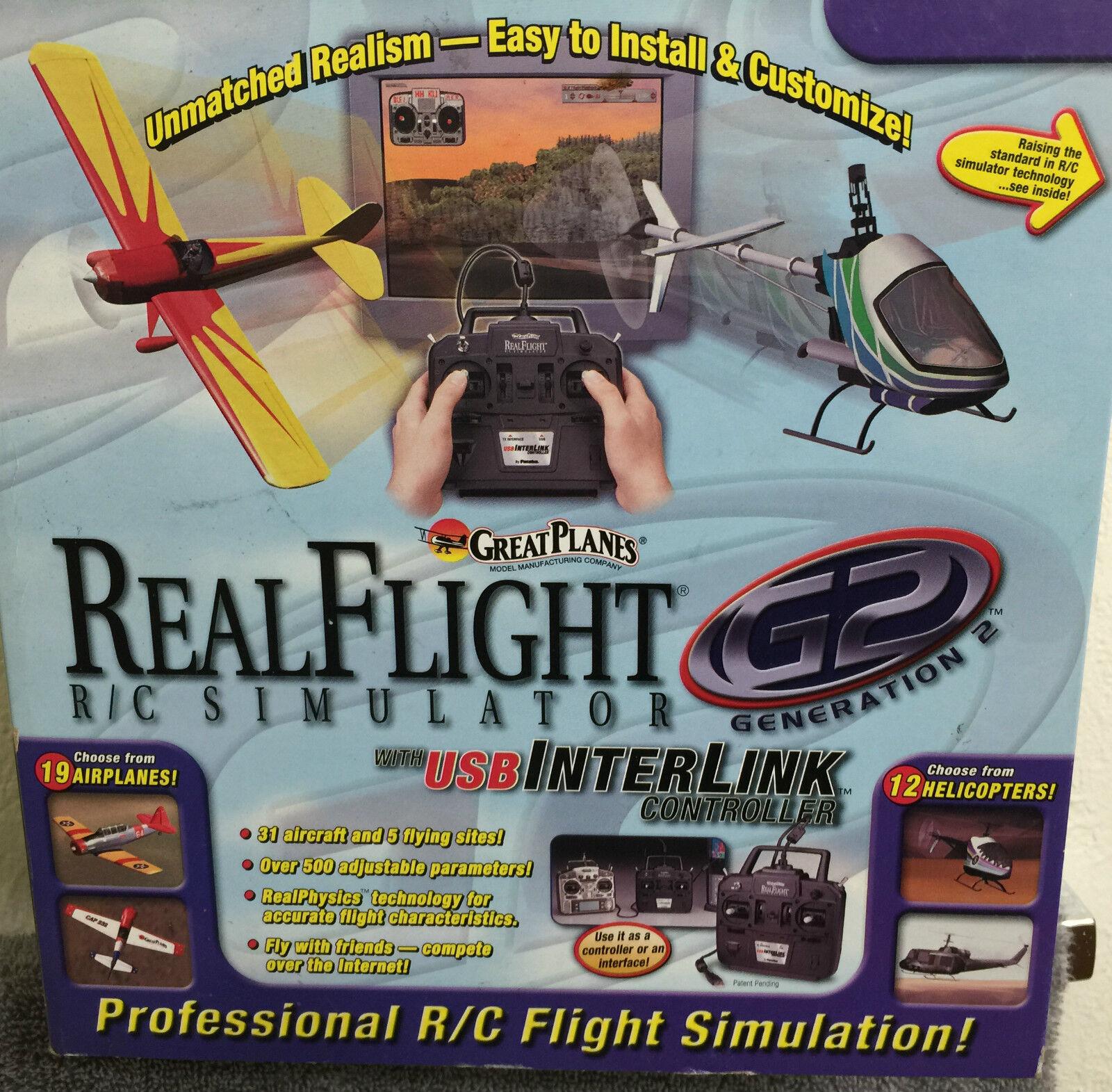 GREAT PLANES REAL FLIGHT R/C SIMULATOR-PROFESSIONAL REAL FLIGHT SIMULATION-NEW