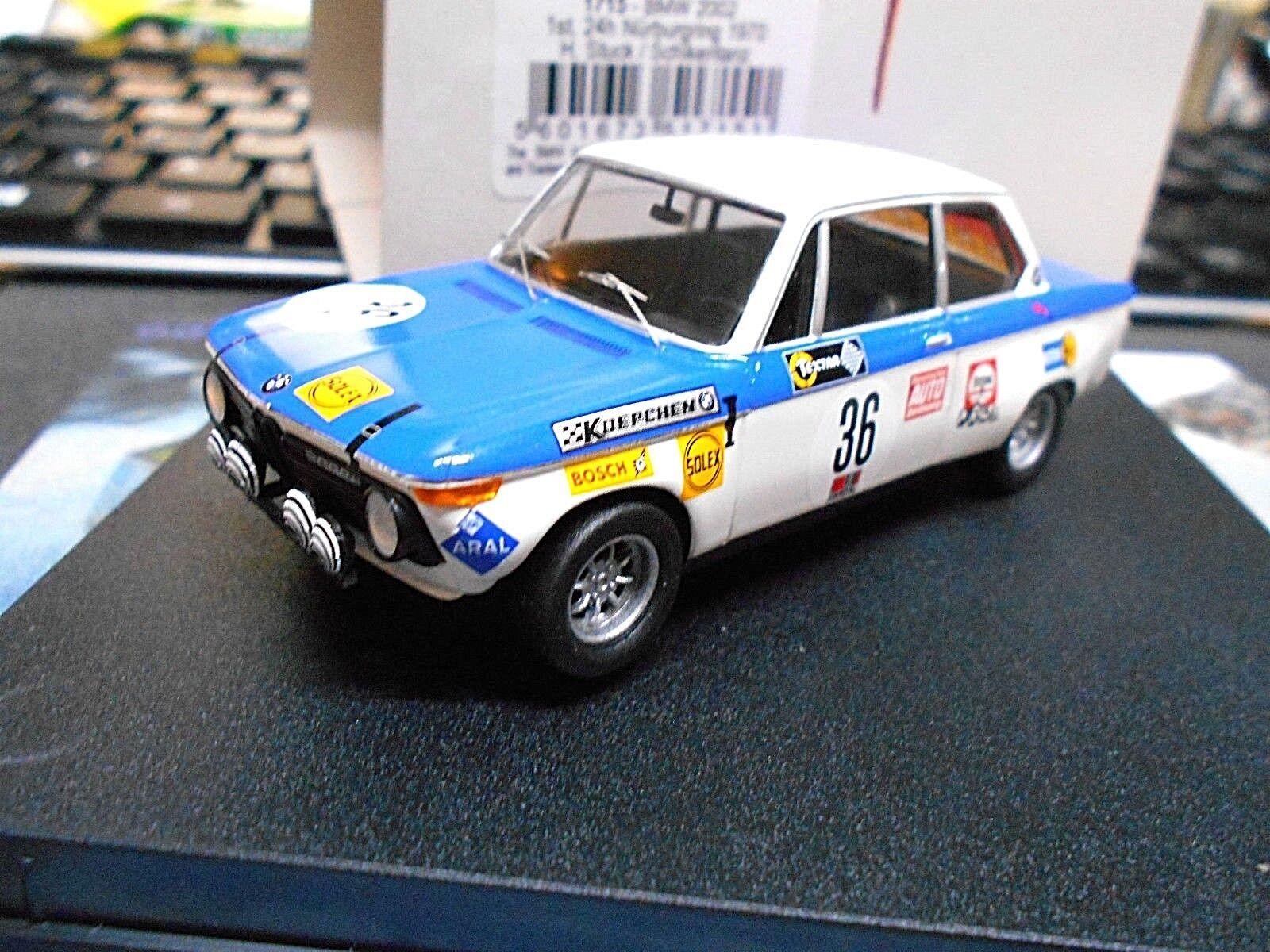 BMW 2002 24 H NURBURGRING WINNER 1970  36 stucco mandare danza 1715 Trofeu 1:43