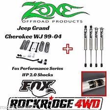 "Zone Offroad 4"" Jeep Grand Cherokee WJ 99-04 Suspension Lift w/ Fox Performance"