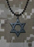 Official U.s. Military Star Of David Gi Jewelry Stainless Steel Necklace - Black