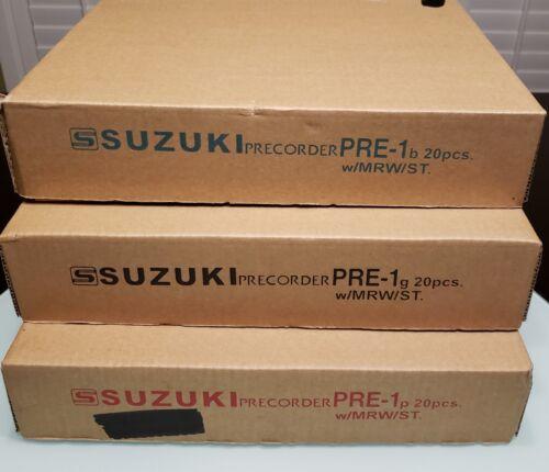 Suzuki Musical Instrument PRE-1P Soprano Precorder Recorder  W// Fingering Chart