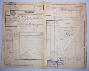Frachtbrief-1923-Chemnitz-Hbf-Selon-Schonbrunn-Par-Bischofswerda-D5
